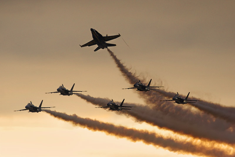 Blue Angels at Dusk