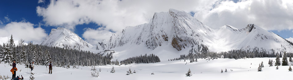 Cross-Country Skiing Panorama in Canmore