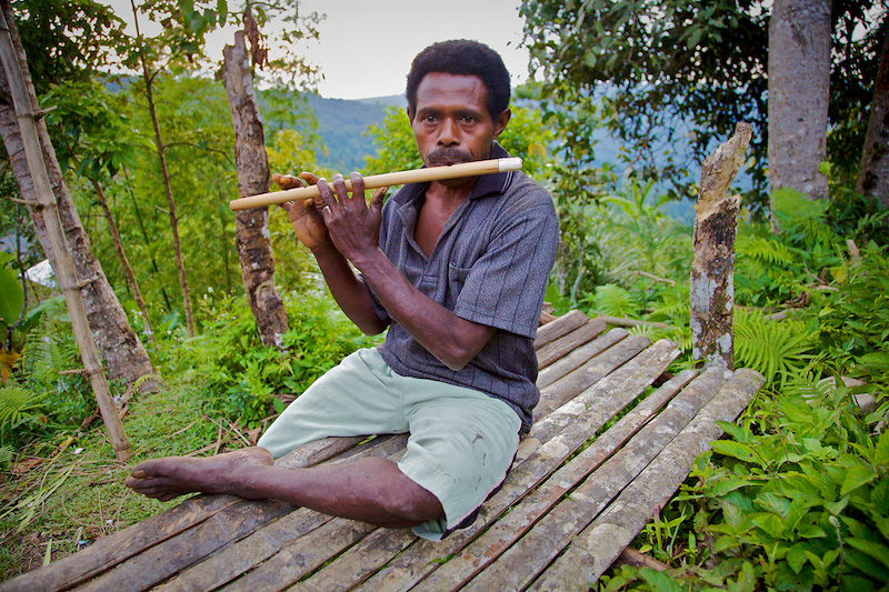 Bamboo Flute Player