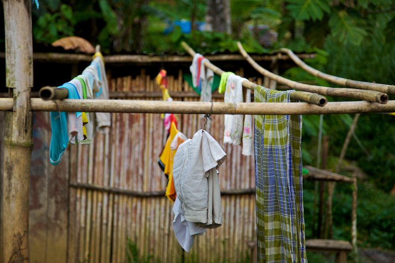 Bamboo Clothesline