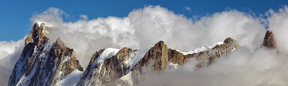Mont Blanc Panorama: Grandes Jorasses and Dent du Geant