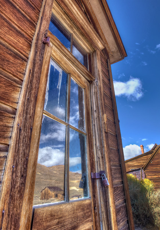 Bodie Window Reflection