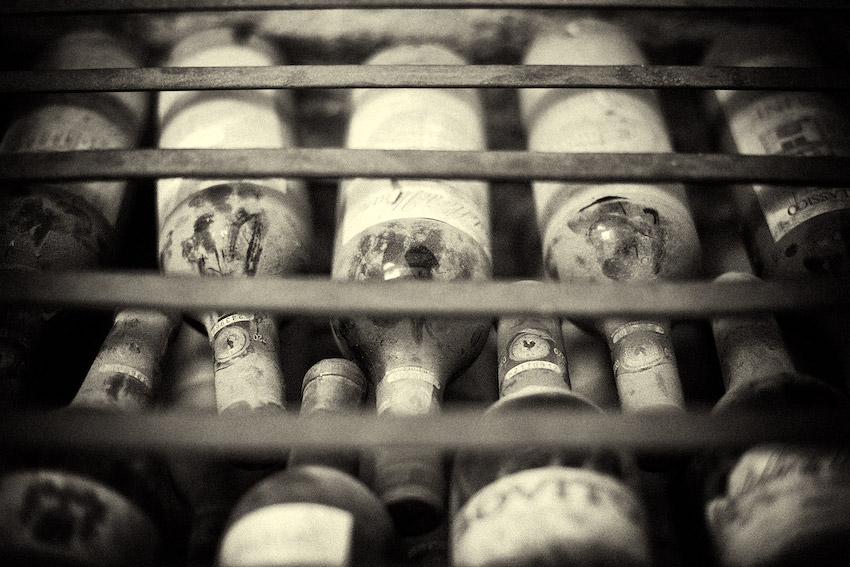 Dusty Chianti Wine Bottles - Greve in Chianti, Tuscany, Italy