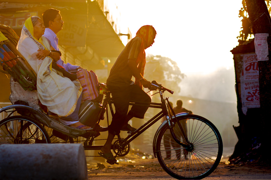 Cycle Rickshaw in Early Dawn - India