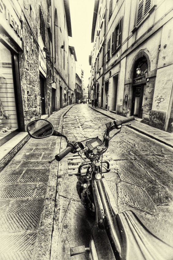 Vespa on the Streets of Florence