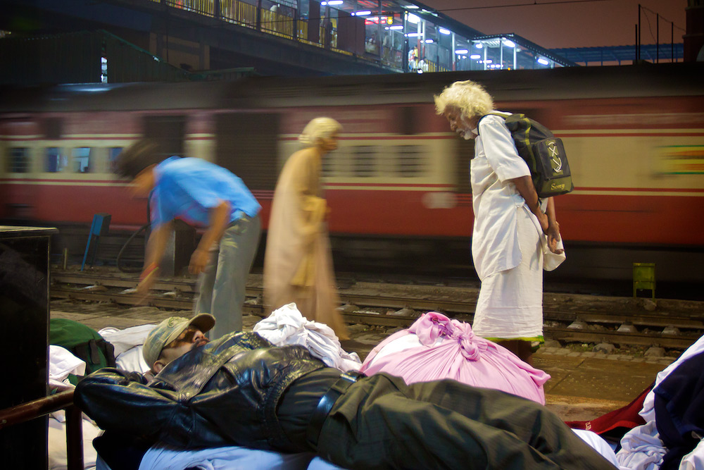 Life at the Railway Station - New Delhi Railway Station, India
