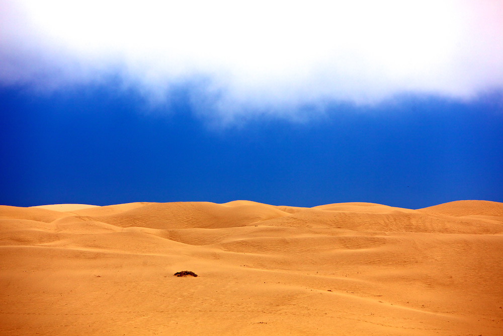 Meeting of Sand and Sky - Pismo Dunes, Oceano Dunes - Pismo Beach, CA