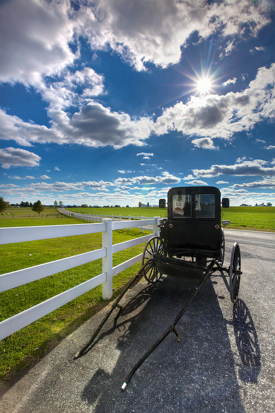 Horseless Amish Buggy near Lancaster, PA