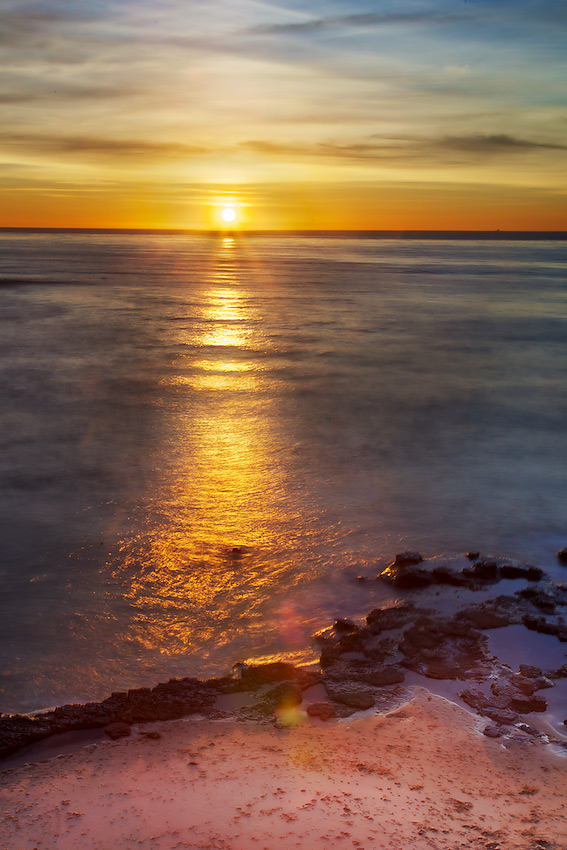 Shimmering Sea - Sunset from the Cliffs, Point Loma, San Diego