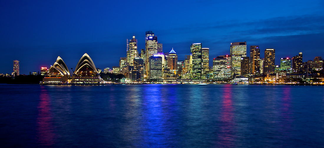 Sydney Harbour on Blue - Sydney Opera House & CBD