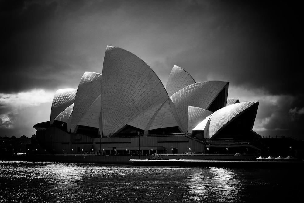 Shimmering opera house sydney australia
