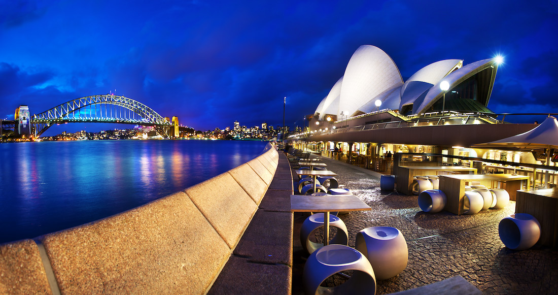 Opera Bar Panorama - Sydney Opera House & Harbour Bridge