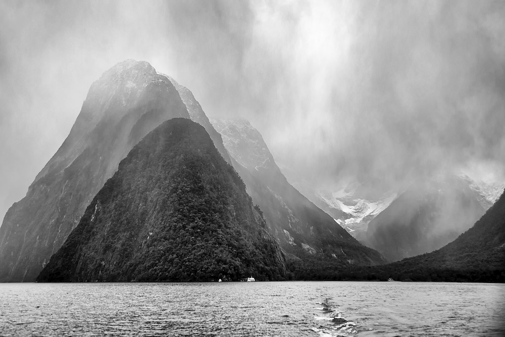 Storm in Milford Sound - New Zealand