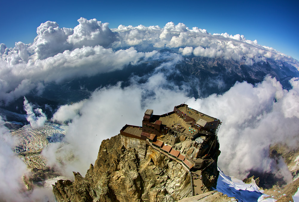 Patio in the Clouds - Mont Blanc Cable Car