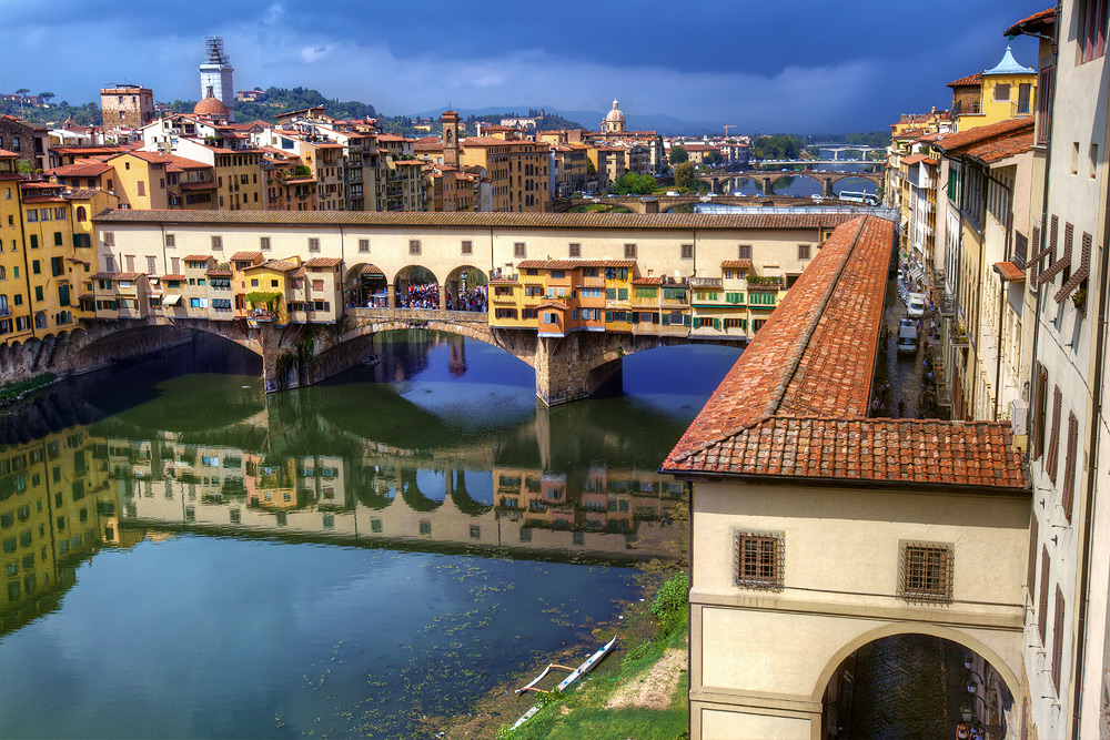 Ponte Vecchio from Above - Florence, Italy