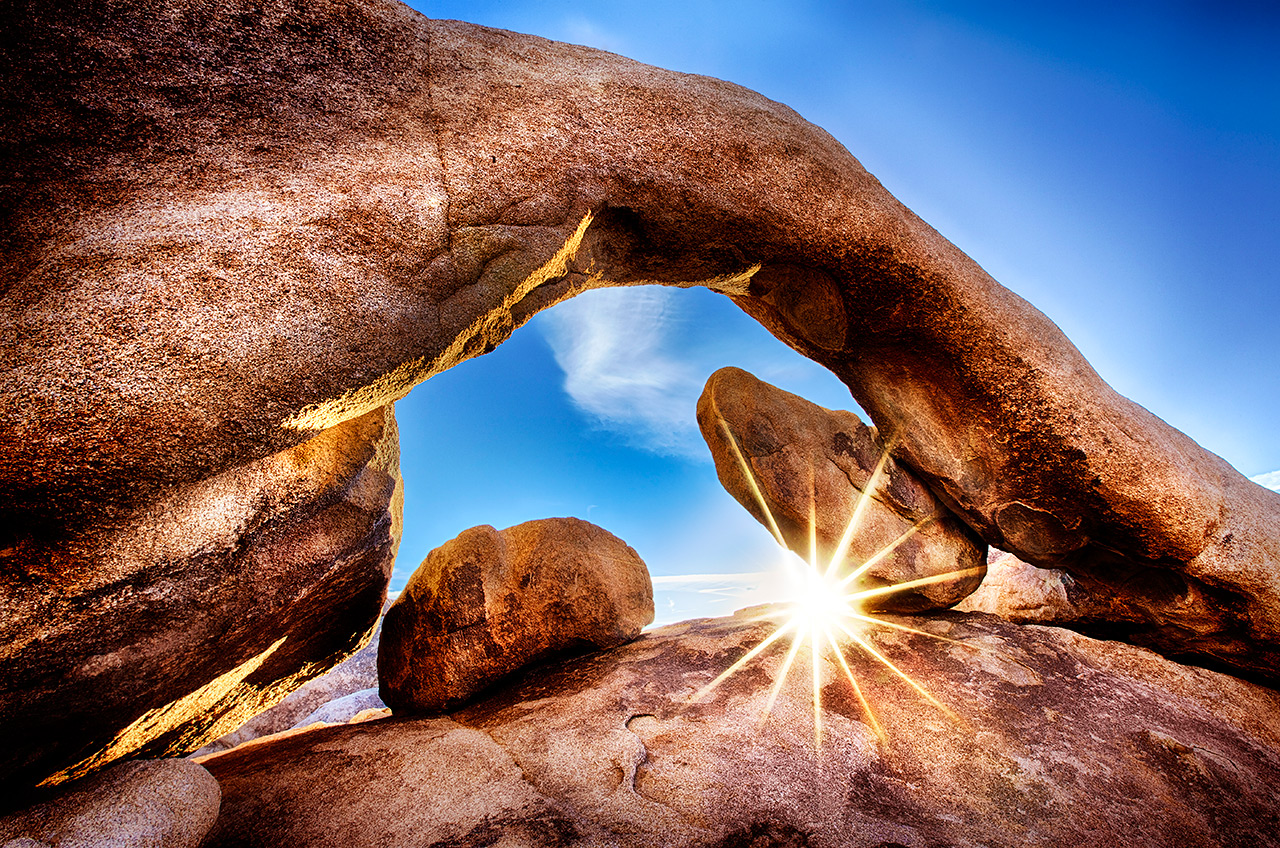 Rock Arch Joshua Tree Starburst