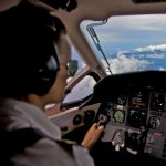 Mt. Cyclops through the Pilatus PC-12 Cockpit