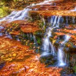 Red Falls Up Close - Zion National Park - HDR