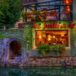 Les Jardins de l'Auberge - Restaurant on the Canal - Annecy, France