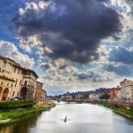 River Arno Rower - Florence, Italy