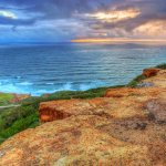 Point Loma Orange Cliffs at Sunset - San Diego, CA