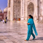 Flowing Color on Marble - Beneath the Taj Mahal