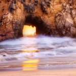 Portal to the Sun - Sea Arch at Pfeiffer Beach, Big Sur, CA
