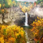 Fall Colors at Taughannock Falls - Finger Lakes Region, Ulysses, NY