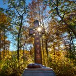 Celtic Cross in the Forest: Irish Brigade Monument, Gettysburg