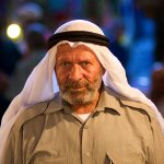 Man in the Market: Jerusalem Old City Arab Market or Souk