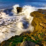 Brushstrokes of Water: Waves at Sunset Cliffs, Point Loma