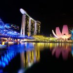 Singapore Marina Bay: Helix Bridge, Marina Bay Sands, ArtScience Museum
