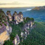 The Three Sisters overlooking Jamison Valley, Blue Mountains, NSW