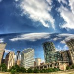 Chicago Skyline Cloud Gate Bubble