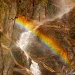 Rainbow in the Falls - Bridalveil Fall, Yosemite