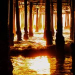 Fire Under the Pier - Santa Monica Pier, CA