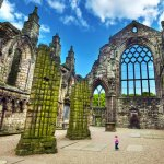 Holyrood Abbey Ruins - Holyrood Palace, Edinburgh, Scotland